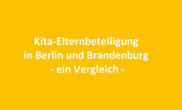 Kita-Elternbeteiligung in Berlin und Brandenburg – ein Vergleich