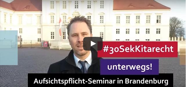 #30SekRecht Folge 83 – Aufsichtspflicht – Seminar in Brandenburg (Oranienburg)