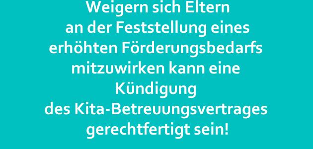 Kammergericht Berlin bestätigt Kündigung eines Betreuungsvertrags für ein Kind mit Integrationsstatus