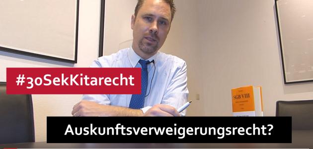 #Kitarecht Folge 90 – Auskunftsverweigerungsrecht von Erziehern ?!