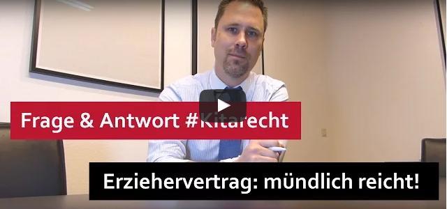 #Kitarecht Folge 103 – Achtung: Arbeitsvertrag für Erzieher – mündlich reicht schon!