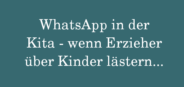 WhatsApp in der Kita