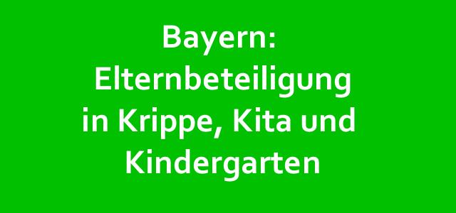 Kita-Elternbeteiligung in Bayern