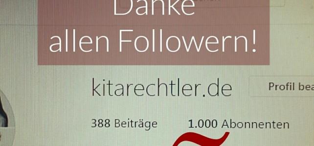 1.000 Follower bei Kitarechtler.de-Instagram!
