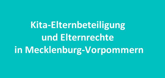 Kita-Elternbeteiligung in Mecklenburg-Vorpommern