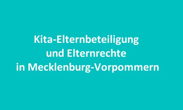 Kita-Elternbeteiligung Elternrechte Mecklenburg Vorpommern