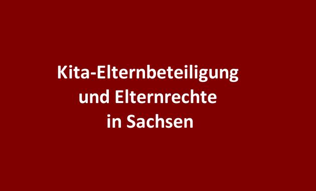 Kita Kindergarten Elternrechte Elternbeteiligung Sachsen