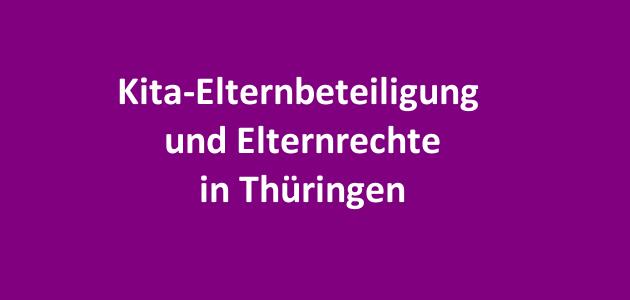 Kita-Elternbeteiligung in Thüringen