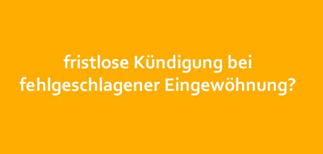 Urteil des AG Bonn  (AZ: 114 C 151/15) zu Kündigung bei fehlgeschlagener Eingewöhnung