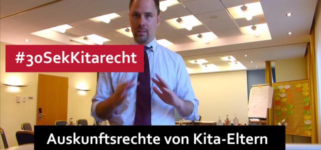 #30SekKitarecht Folge 64 – Auskunftsrechte von Kita-Eltern in Brandenburg