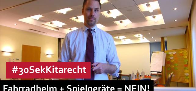#30SekKitarecht Folge 66 – Fahrradhelme & Kita-Spielgeräte = Nein!