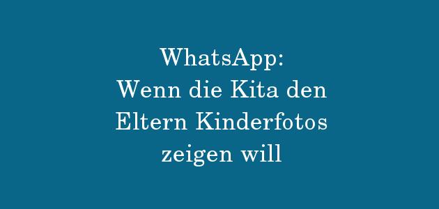 WhatsApp im Kita-Alltag