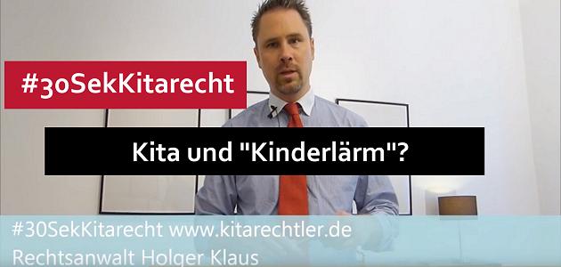 """#30SekKitarecht Folge 75 – Kita und """"Kinderlärm""""?"""