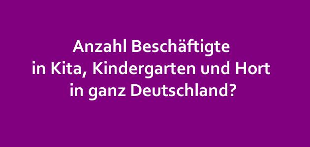 Anzahl Beschäftigte in Kita, Kindergarten und Hort