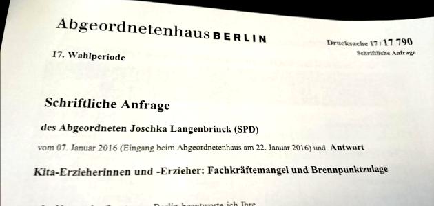Verfügbare Kita-Plätze in Berlin