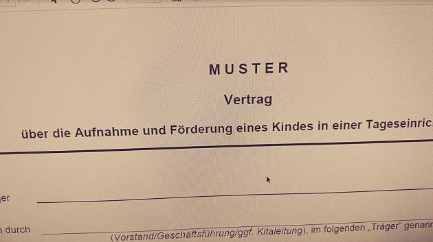 Achtung Kita Träger In Berlin Muster Betreuungsvertrag Der