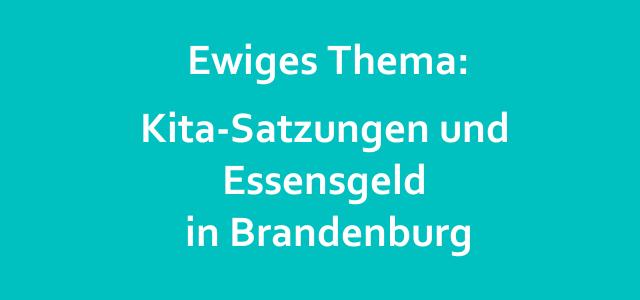 Rückerstattung von Essensgeld in Brandenburg – gar nicht mal so einfach!