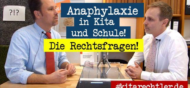 Kitarecht Folge 258: Anaphylaxie bei Kindern in Kita und Schule – die Rechtsfragen!